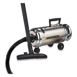 Metro Vacuum - Metro Metropolitan Professional Stainless Steel Compact Canister Vacuum - This compact canister vacuum / blower boasts an industrial quality, twin-fan motor that cranks out an impressive 4.0 Peak Horsepower.