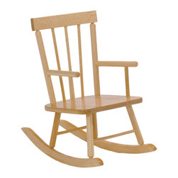 "Steffywood - Steffywood Kids Toddler Solid Maple Child's Rocker Arm Chair - Classic style children's' rocker is constructed of solid maple. Seat height is 10"" from floor and the total height of rocker is 23"". Ships fully assembled.Solid maple construction. Non toxic environmentally safe durable clear finish. Ships completely assembled. GreenGuard Certified."