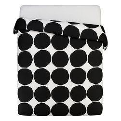Marimekko Kivet Black King Duvet Cover - Why does my brain imagine playing a game of black and white Twister on this bedspread? Oh right, because I'm weird.