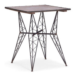 Volt Metal Table - Add structure and interest to your space with the Volt Metal Table. The wire-like design resemble high electrical towers and is a fun way to dress up your living space.