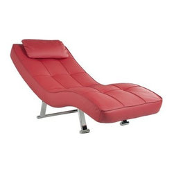 Abbyson Living Leather Euro Chaise - Red - About AbbysonBased in California, Abbyson has been America's leading home lifestyle furnishings brand since 1989. Following a mission that aims to combine style, function, affordability, sustainability and diversity into all their products, Abbyson creates classic and transitional designs that let their customers regain the control in the environments that they call home. With operations in Italy, China, and Germany, Abbyson focuses on using the finest materials, craftsmen, and techniques, from their classic leather furniture sets to organic, hand-knotted Tibetan rugs. Abbyson recently partnered with the Sustainable Furnishings Council as part of their effort to find new ways to bring sustainable practices to home furnishings marketplace. Through their green initiatives and everyday design and construction practices, Abbyson keeps striving to meet their customer's lifestyle needs, and revitalize their day-to-day routines.