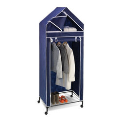 "Honey Can Do - 30"" Portable Storage Closet - Breathable fabric cover- keeps clothes fresh. Enclosed shelving- keeps folded items dust-free. Heavy-duty steel frame- sturdy & rustproof. Versatile storage area- perfect for laundry room, garage or basement. 29.53 in. x 19.69 in. x 74.8 in."