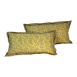 Pair of Vintage Fortuny Pillows Orfeo Pattern - The HighBoy, Olde World Pillows