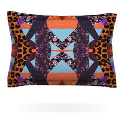 "Kess InHouse - Vasare Nar ""Pillow Kaleidoscope "" Purple Orange Pillow Sham (Cotton, 40"" x 20"") - Pairing your already chic duvet cover with playful pillow shams is the perfect way to tie your bedroom together. There are endless possibilities to feed your artistic palette with these imaginative pillow shams. It will looks so elegant you won't want ruin the masterpiece you have created when you go to bed. Not only are these pillow shams nice to look at they are also made from a high quality cotton blend. They are so soft that they will elevate your sleep up to level that is beyond Cloud 9. We always print our goods with the highest quality printing process in order to maintain the integrity of the art that you are adeptly displaying. This means that you won't have to worry about your art fading or your sham loosing it's freshness."