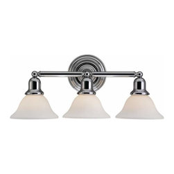 Sea Gull Lighting - 3-Light Wall / Bath Chrome - 44062-05 Sea Gull Lighting Sussex 3-Light Wall / Bath with a Chrome Finish