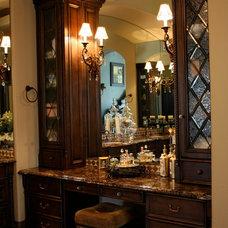 Mediterranean Bathroom by Karmichael's Cabinetry, Inc