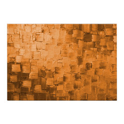Matthew's Art Gallery - Oil Painting Abstract Modern Contemporary Art on Canvas Decor Orange Squares - Name: Orange Squaures