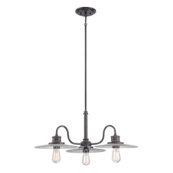 Quoizel - Quoizel ADM5103IB Admiral with Imperial Bronze Finish 3 Light Chandelier - Quoizel ADM5103IB Admiral with Imperial Bronze finish, 3 light chandelier.