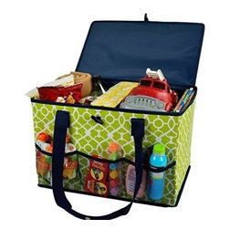 Picnic at Ascot - Picnic at Ascot Collapsible Home and Trunk Organizer, Trellis Green - Our Collapsible Home & Trunk Organizer in Trellis Green by Picnic at Ascot is great for keeping toys, groceries, gear, supplies secure. With covered top and carry handles you can now easily trasnport the organizer from home to auto or from room to room.