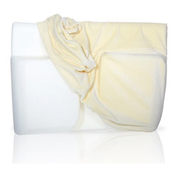 Living Healthy Products - Velour Cover For Better Sleep Pillow II - Cream - Cotton - The Velour Cover for Better Sleep Pillow provides for comfort, has an appealing appearance, and maintains your pillow clean. This velour cover is very soft and fits exactly on Better Sleep Pillow because it is exclusively made for this memory foam pillow.