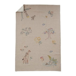 Coyuchi® - Coyuchi® Hand Embroidered Linen Critter Crib Blanket - Embroidered by hand with lions, giraffes, monkeys and more, our soft linen blanket will inspire endless bedtime stories. Its backed with velvety brushed cotton, so its lightweight, yet cozy.