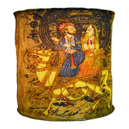 Modelli Creations - Hanging Lamp Shade with Ancient Indian Camel Design - Let your imagination ignite with this Journey of India Collection Hanging Lamp Shade in Camel Design. Beautiful ancient Indian motifs combined with modern colors and patterns create bold and brightening designs to excite any space.