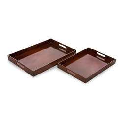"""IMAX CORPORATION - Calliope Serving Trays - Set of 2 - Simple yet sophisticated set of 2 serving trays. Set of 2 in various sizes measuring around 24.5""""L x 16.5""""W x 6""""H each. Shop home furnishings, decor, and accessories from Posh Urban Furnishings. Beautiful, stylish furniture and decor that will brighten your home instantly. Shop modern, traditional, vintage, and world designs."""