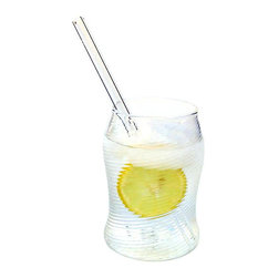 Strawesome - Glass Drinking Straw - An easy and down-to-earth glass straw, guaranteed to add enjoyment to every sip! This straw is the glass equivalent of the plastic straw a restaurant uses.