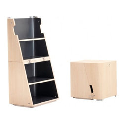 Scalo Modern Stool and Step Ladder -