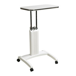Office Star Products - Precision White Laptop Stand - The Precision Laptop Stand from Office Star Products has the ability for users to work from a seated or standing position due to the easy to use height adjustment mechanism.
