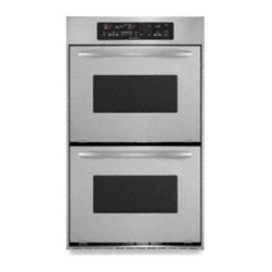 "KitchenAid - Architect II Series KEBC247VSS 24"" Double Electric Wall Oven with 3.1 cu. ft. Pe - Reduce cooking time while sealing in the natural juices and flavors of foods with the convection cooking system in this double wall oven The spacious 31 cu ft ovens easily accommodate multiple dishes simultaneously"
