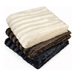 Madison Park Duke Polyester Brushed Long Fur Knitted Throw - Add luxury and warmth to your master bedroom with this Madison Park Duke faux fur knitted throw.