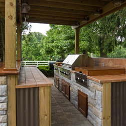Outdoor Cabinets - An outdoor bar area