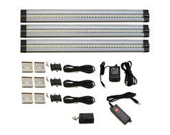 Lightkiwi - Lightkiwi T4460 Under Cabinet Lighting 42 LED 24V Cool White 3 Panel Premium Kit - Brightness