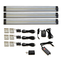 Lightkiwi - Lightkiwi T4460 Under Cabinet Lighting 42 LED 24V Cool White 3 Panel Premium Kit - Brightness