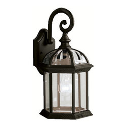 Kichler Lighting - Kichler Lighting 9735BK Barrie Painted Black Outdoor Wall Sconce - Kichler Lighting 9735 Barrie Outdoor Wall Sconce