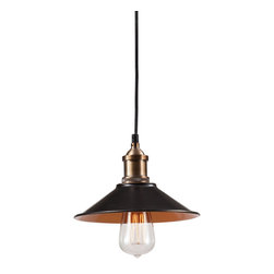 Zuo Modern Contemporary, Inc. - Metaborite Ceiling Lamp Antique Black Gold & Copper - Appropriately film noir, the Metaborite Ceiling Lamp looks like it could light the desk of a 1940s private eye. Gleams in antique black gold with copper fixtures. You don't need to wear a fedora under this lamp, but it's recommended.