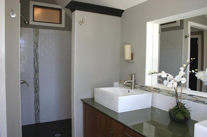 Contemporary Bathroom by Charleene's Houses, LLC