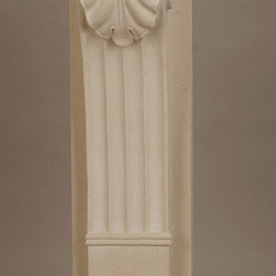 Berkley | Nottingham | Stoneleigh cast stone corbel - This corbel has an acanthus design that can be found on our Berkley, Nottingham, Stoneleigh and Wellington fireplace surrounds. This corbel is available with or without the lion's paw foot.