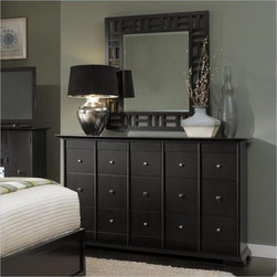 Broyhill - Perspectives Drawer Dresser And Lattice Mirror - 4444-230-236 - Includes Drawer Dresser and Lattice Dresser Mirror