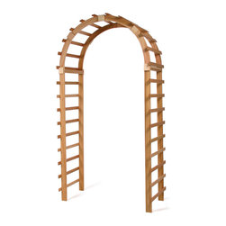 All Things Cedar - Trellis Garden Arbor - Great rounded top arbor for vines to climb Item is made to order.
