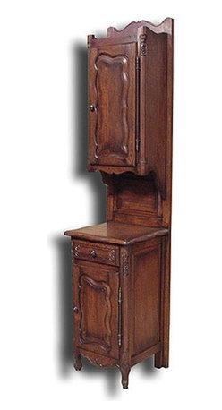 EuroLux Home - New Side Cabinet Oak French Country Raised - Product Details