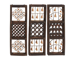 Benzara - Beautiful Style Wood Bell Wall Panel 3 Assorted Home Decor - Description: