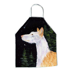 Caroline's Treasures - Starry Night Ibizan Hound Apron SS8499APRON - Apron, Bib Style, 27 in H x 31 in W; 100 percent  Ultra Spun Poly, White, braided nylon tie straps, sewn cloth neckband. These bib style aprons are not just for cooking - they are also great for cleaning, gardening, art projects, and other activities, too!