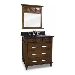 Lyn Design - Lyn Design Lexington Modern 26 X 36 Chocolate Vanity Top/Bowl - Lyn Design Lexington Modern 26 X 36 Chocolate Vanity Top/Bowl
