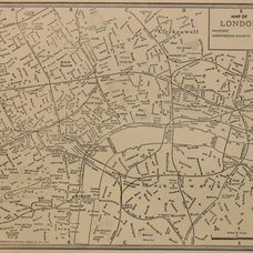 Vintage Map London England Original 1935 by PastOnPaper on Etsy