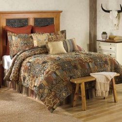 Sedona - Havasu 4-Piece Comforter Set - Add a Southwest vibe to your bedroom with the Havasu comforter set. Rich shades of red, rust, brown and tan are woven together in a stylish Southwest-inspired pattern.