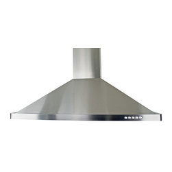 Cosmo - Euro-Style Stainless Steel Wall Mount Range Hood w/ Baffle Filters (760 CFM), 36 - This modern European style range hood features a fully stainless steel body with steel baffle filters that are dishwasher safe, so you never have to replace them. With a coverage capacity of 760 cubic feet per minute, it can handle heavy ventilation tasks. Despite its power, this hood operates at noise levels less than 60 dB which is ideal for ultra quiet operation.