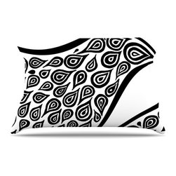 "Kess InHouse - Pom Graphic Design ""Bird in Disguise White"" Pillow Case, King (36"" x 20"") - This pillowcase, is just as bunny soft as the Kess InHouse duvet. It's made of microfiber velvety fleece. This machine washable fleece pillow case is the perfect accent to any duvet. Be your Bed's Curator."