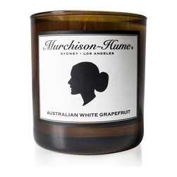 Murchison-Hume - Murchison-Hume Signature Candle - Australian White Grapefruit - We proudly offercandles, hand-poured in Los Angeles and feature a soy blend clean burn wax.  Our fragrances are free from phthalates, sulphates and parabens.  Our Australian White Grapefruit is a light, subtle citrus blossom fragrance.