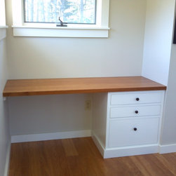 Built-in desk - Built-in Desk by: Blue Spruce Joinery