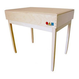 JAK Play Therapy Sand Table - Sand play is an expressive and dynamic play process for children, adolescents, adults, couples, and families, and the JAK Play Therapy Sand Table makes this type of play accessible and stylish. This sand table consists of a tray, lid, and stand, all of which are 100% Canadian handcrafted of birch wood. The tray interior is durably coated in non-toxic blue paint and is water-resistant. The tray has JAK's signature box joints for extra strength. Try a variety of materials inside the sand table for multiple sensory experiences. Sand, beans, uncooked rice, beads, and more are all good options, but always keep small children supervised with these small items. This sand table is designed for indoor or outdoor use and can hold about 25 lbs. of sand. The tray reverses for a lower depth side ideal for sand drawing.About JAKThe good people at JAK are committed to producing the highest quality sand therapy trays and children's furniture at affordable prices. JAK products are proudly 100% made in Canada. Exceeding other products on the market, JAK has a signature box joint to produce an extremely strong, durable finished product and creates an urban retro style to complement any home, office, or classroom.