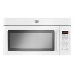 None - Maytag 1.8 cubic foot White Over-The-Range Microwave - Featuring EvenAir Convection cooking for uniform results and a large capacity,this Maytag over-the-range microwave is perfect for your kitchen. The ventilation fan features a charcoal filter to remove smoke and odors.