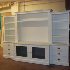 traditional media storage by Curtis Furniture Co.