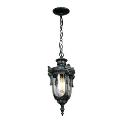 2003 Outdoor Metal and Water Glass Pendant Lighting -