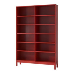 K Hagberg/M Hagberg - LINNARP Bookcase, Red - This is the perfect home for your books and knickknacks, and it comes in a happy color.