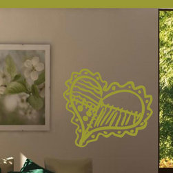 Sewing Quilted heart patched heart Vinyl Wall Decal - Vinyl Wall Quotes are an awesome way to bring a room to life!