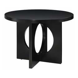 None - Westmont 42-inch Black Table - This modern black table, made with mixwood, is a stylish and useful addition to your living room. It has an elegant base design and a luxurious finish. Its size provides plenty of space for you to place your important belongings.