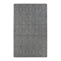 Kaleen - Kaleen Imprints Modern Collection IPM03-75 8' x 11' Grey - Imprints Modern, where textiles meet fashion. Modern textile designs and todays hottest colors combine to meet the new evolution of this beautiful collection. Straight off the runway and into your home each rug is handmade in India of 100% Virgin Wool.