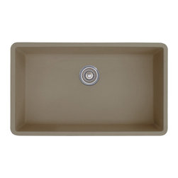 Blanco - Blanco Precis Silgranit II 441297 Single Basin Undermount Kitchen Sink Multicolo - Shop for Kitchen from Hayneedle.com! Large enough to handle any load the Blanco Precis Silgranit II 441297 Single Basin Undermount Kitchen Sink is just the thing for your kitchen. It has a striking style and is made from 80% granite to handle heat scratches and stains without a hitch.About Blanco AmericaA manufacturer of finely crafted sinks and faucets family-owned Blanco was founded in Germany in 1925 by Heinrich Blanc. With American offices based in New Jersey Blanco has grown to become one of the leading providers of innovative high-quality kitchen faucets matching bar sinks and faucets and functional kitchen accessories for residential and commercial use. With design function quality and service at the forefront Blanco prides itself on its tradition of high quality award-winning German engineering innovative design and unsurpassed customer service.